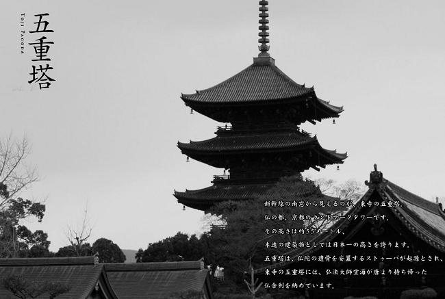 京都駅近く東寺五重塔