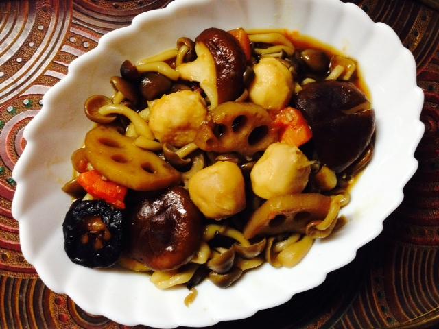 きのことレトルト里芋の煮物