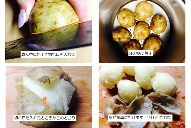 ジャガイモのふかし方豆知識