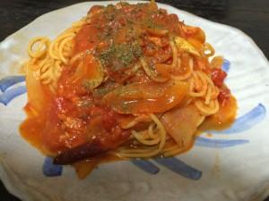 クリーミィなツナのトマトパスタ