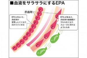 血液サラサラ効果のepa