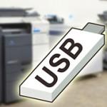 PDFの入ったUSBメモリーを差し込む