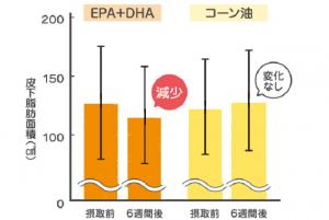 DHA、EPAで皮下脂肪も低下